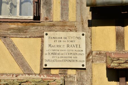 ravel: France, a house where Maurice Ravel life in the village of Lyons la Foret