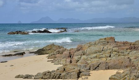 anne: Martinique, the picturesque beach of les salines of Sainte Anne in West Indies Stock Photo