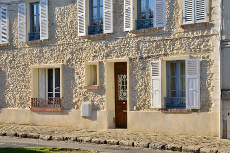 ile de france: Ile de France, the picturesque village of Orgerus Stock Photo