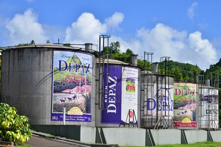 pierre: Martinique, the Depaz distillery in Saint Pierre in West Indies Editorial