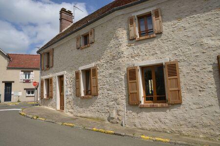 ile de france: Ile de France, the picturesque village of Follainville Dennemont Stock Photo