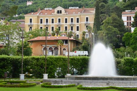 picturesque: Croatia, the picturesque and historical city of Opatija in Balkan Editorial