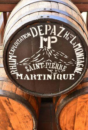 pierre: Martinique, the Depaz distillery in Saint Pierre in West Indies Editorial