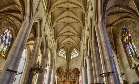 le: France, the picturesque church of Le Neubourg in normandie