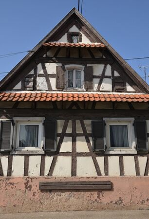 bas: France, the picturesque village of Soufflenheim in Bas Rhin Stock Photo