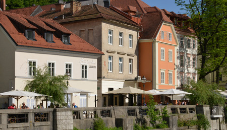 picturesque: Slovenia, the picturesque and historical city of Ljubljana