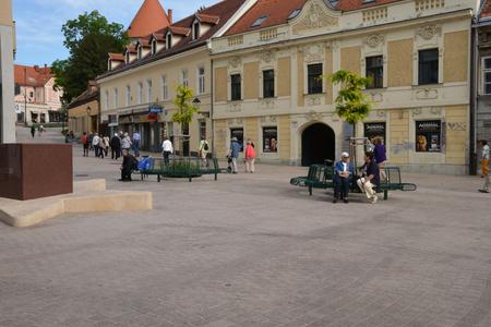 balkan: Croatia, the picturesque city of Zagreb in Balkan