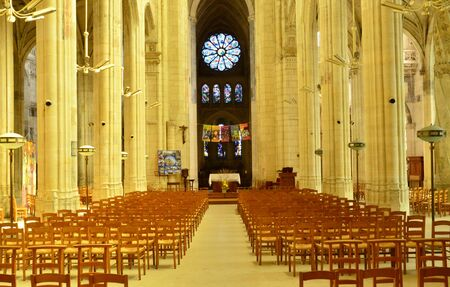 collegiate: France, the picturesque collegiate church of Gisors in Normandie
