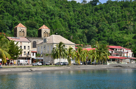 pierre: Martinique, the picturesque city of Saint Pierre in West Indies