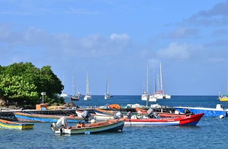 indies: Martinique, the picturesque city of Sainte Anne in West Indies