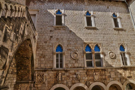picturesque: Croatia; the picturesque and historical city of Trogir in Balkan