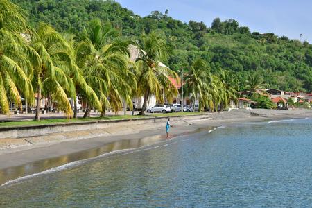 pierre: Martinique, the picturesque city of Saint Pierre in West Indies