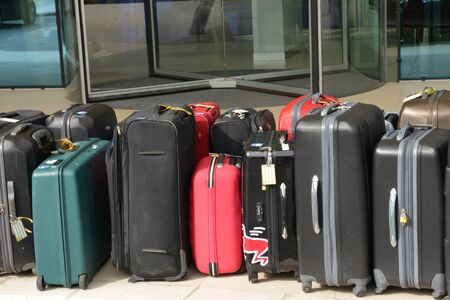 Croatia; some suitcases in front of an hotel in Split in Balkan
