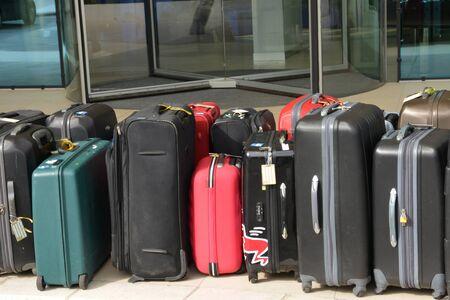 Croatia; some suitcases in front of an hotel in Split in Balkan