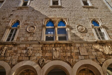 touristy: Croatia; the picturesque and historical city of Trogir in Balkan
