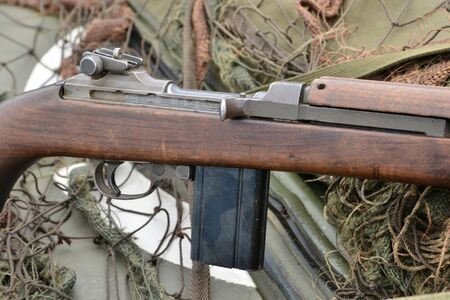 Ile de France, M1 carbine and old military equipment of the second world war in air show of Verneuil sur Seine Sajtókép