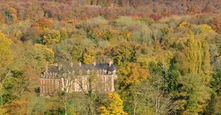 sur: France, the picturesque castle of Rosay sur Lieure Editorial