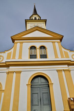 le: Martinique, the picturesque church of Le Carbet in West Indies
