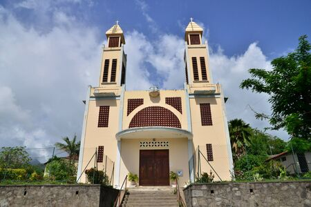 indies: Martinique, the picturesque church of Le Precheur in West Indies Stock Photo