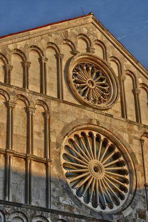 balkan: Croatia, the picturesque cathedral of Zadar in Balkan Stock Photo