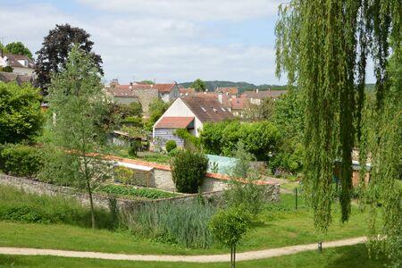 ile de france: Ile de France, the picturesque village of Oinville sur Montcient Stock Photo