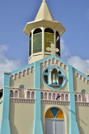 indies: Martinique, the picturesque church of Riviere Pilote in West Indies