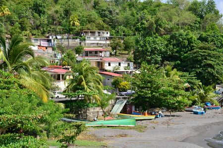 le: Martinique, the picturesque city of Le Precheur in West Indies