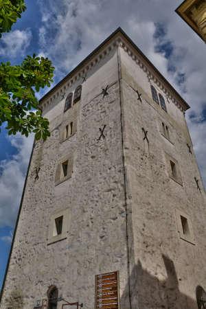 the balkan: Croatia, the picturesque Kula Lotrscak in Zagreb in Balkan Stock Photo