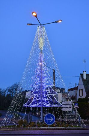 christmas embellishments: Ile de France, the christmas illumination of Verneuil sur Seine