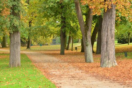 ile de france: Ile de France, the picturesque Messonier park of Poissy Stock Photo