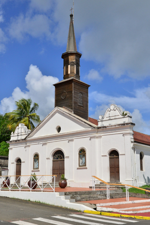 le: Martinique, the picturesque church of Le diamant in West Indies