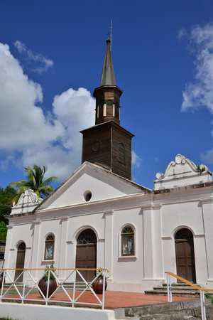 indies: Martinique, the picturesque church of Le diamant in West Indies