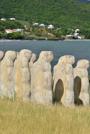 esclavo: Martinique, slave memorial in the city of Le diamant in West Indies