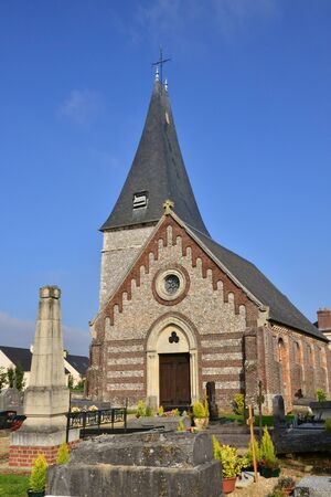 bois: France, the picturesque church of Bois Guilbert in Normandie