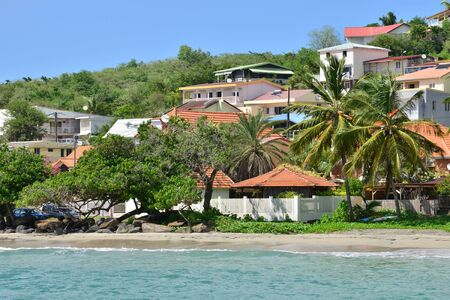 indies: Martinique, the picturesque city of Le diamant in West Indies