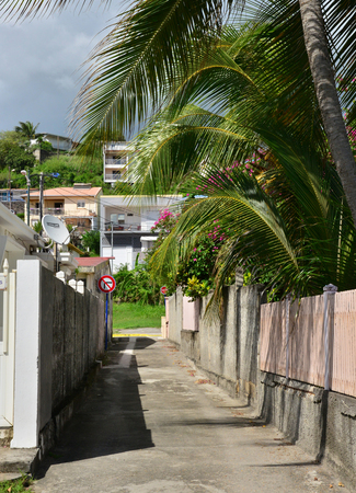 le: Martinique, the picturesque city of Le diamant in West Indies