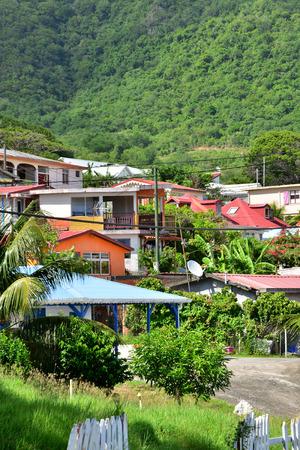 indies: Martinique, the picturesque city of Le diamant in West Indies