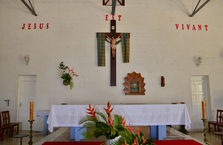 indies: Martinique, the picturesque church of Tartane in West Indies Editorial
