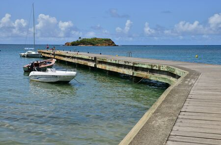 indies: Martinique, the picturesque city of Tartane in West Indies