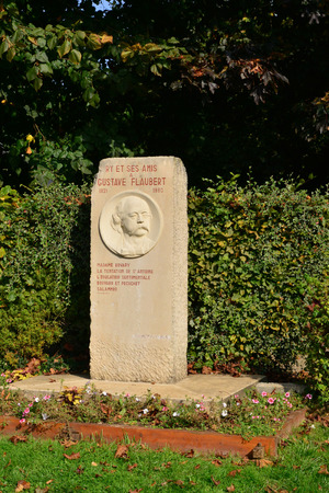 ry: France, theflaubert stele in the  city of Ry Seine Maritime