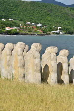 le cap: Martinique, slave memorial in the city of Le diamant in West Indies