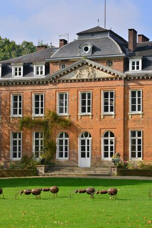 bois: France, the picturesque castle of Bois Guilbert in Normandie Editorial