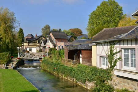 ry: France, the picturesque city of Ry Seine Maritime Stock Photo