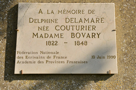 ry: France, the tomb of Emma Bovary in the  city of Ry Seine Maritime