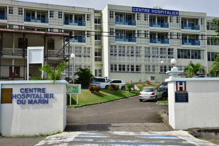 marin: Martinique, the hospital of Le Marin in West Indies