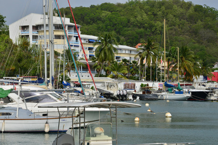 marin: Martinique, the picturesque marina of Le Marin in West Indies