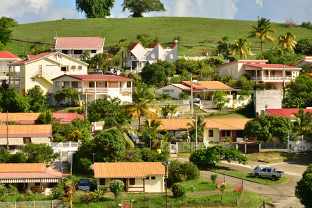 le: Martinique, the picturesque city of Le Vauclin in West Indies Stock Photo