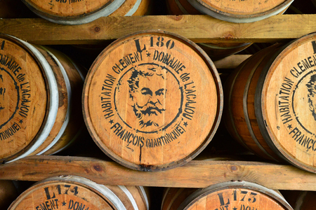 clement: Martinique, barrels in the wine celar of Habitation Clement in Le Francois in West Indies