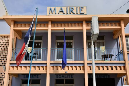 marin: Martinique, the picturesque city hall of Le Marin in West Indies