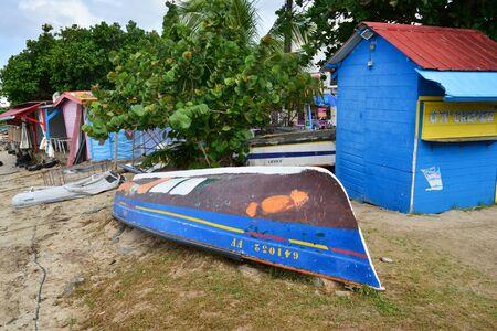 martinique: Martinique, the picturesque city of Sainte Luce in West Indies Editorial